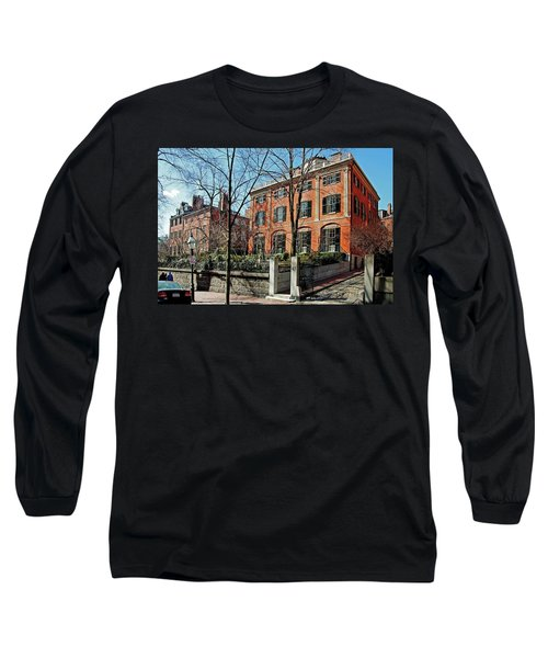 Long Sleeve T-Shirt featuring the photograph Second Harrison Gray Otis House  by Wayne Marshall Chase