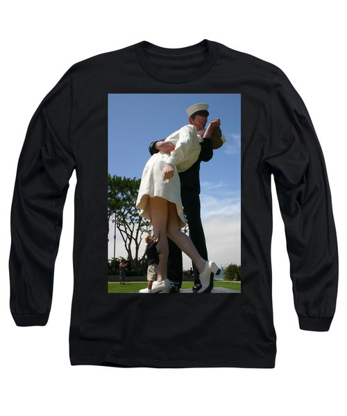 Long Sleeve T-Shirt featuring the photograph Seeeeport Village San Diego by Marie Neder
