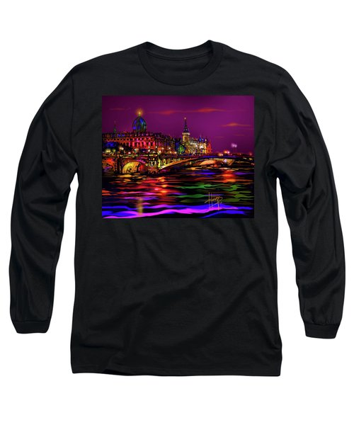 Seine, Paris Long Sleeve T-Shirt by DC Langer