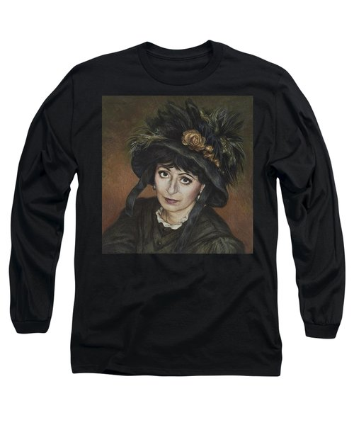 Self-portrait A La Camille Claudel Long Sleeve T-Shirt by Yvonne Wright