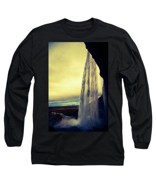 Seljalandsfoss Sunset Long Sleeve T-Shirt