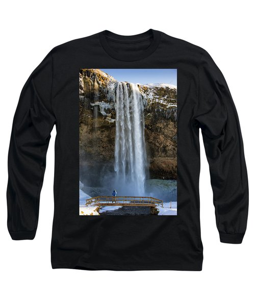 Long Sleeve T-Shirt featuring the photograph Seljalandsfoss Waterfall Iceland Europe by Matthias Hauser
