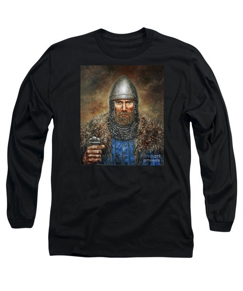 Semigalian Chieftain Long Sleeve T-Shirt by Arturas Slapsys