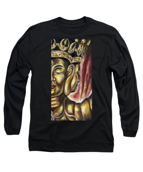 Long Sleeve T-Shirt featuring the painting Sengan Senju by Hiroko Sakai