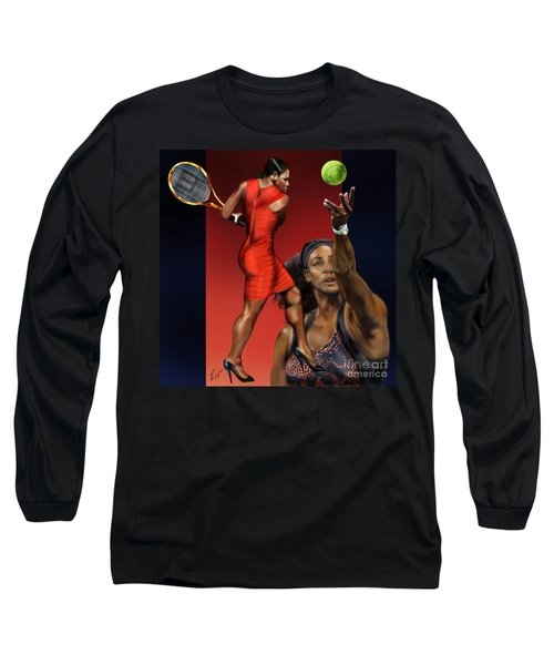 Sensuality Under Extreme Power - Serena The Shape Of Things To Come Long Sleeve T-Shirt by Reggie Duffie