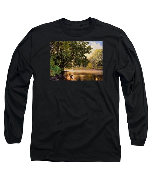 September Dawn, Little Sioux River - Studio Painting Long Sleeve T-Shirt