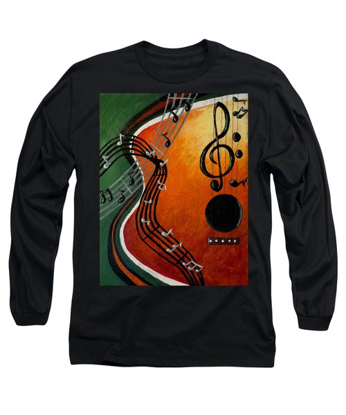 Long Sleeve T-Shirt featuring the painting Serenade by Teresa Wing