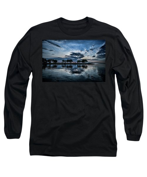 Serene Summer Water And Clouds Long Sleeve T-Shirt