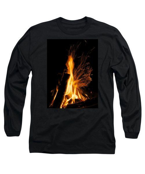Long Sleeve T-Shirt featuring the photograph Set The Night On Fire by Jane Eleanor Nicholas