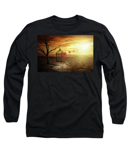 Set Your Self Free Long Sleeve T-Shirt by Nathan Wright