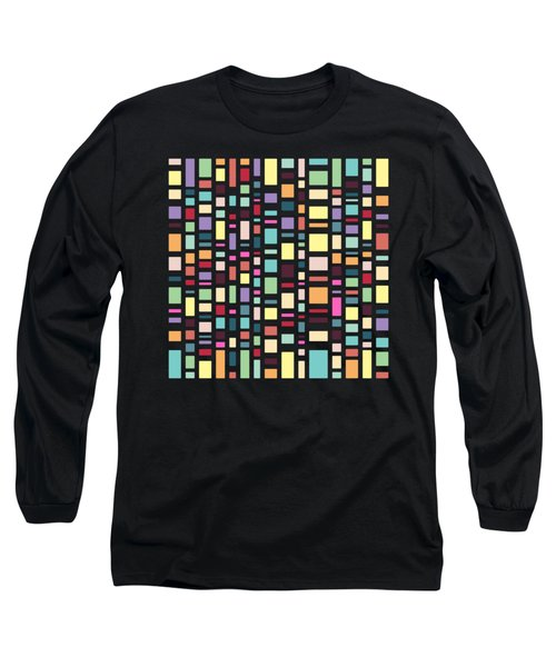 Seventeen Pattern Dark Long Sleeve T-Shirt