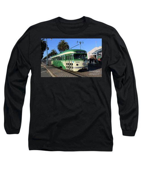 Long Sleeve T-Shirt featuring the photograph Sf Muni Railway Trolley Number 1006 by Steven Spak