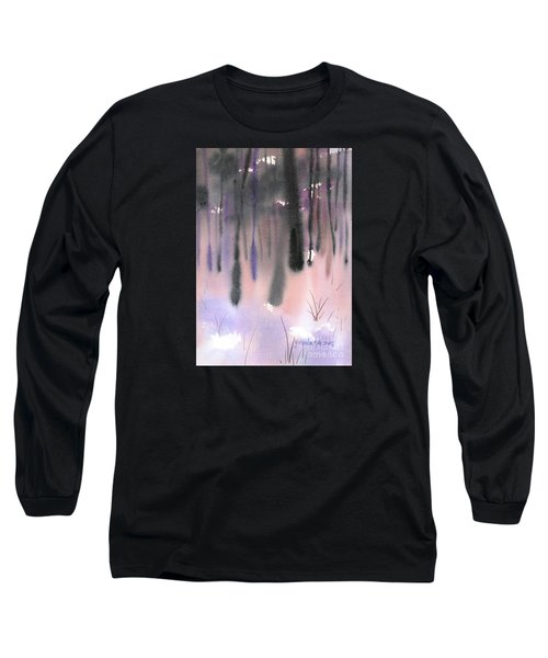 Long Sleeve T-Shirt featuring the painting Shades Of Forest by Yolanda Koh