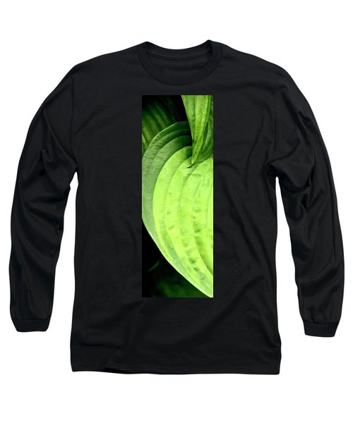 Shades Of Green Long Sleeve T-Shirt by Jerry Sodorff