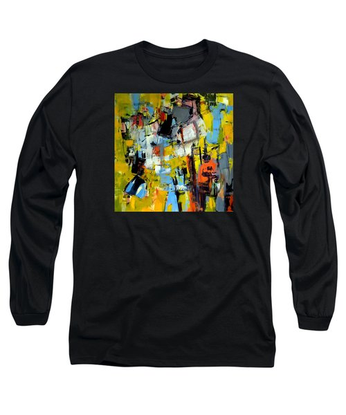 Long Sleeve T-Shirt featuring the painting Shades Of Yellow by Katie Black