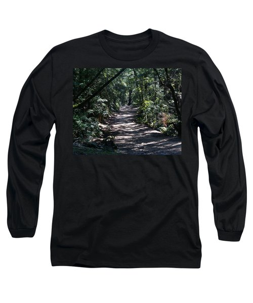 Shady Road On Mt Tamalpais Long Sleeve T-Shirt