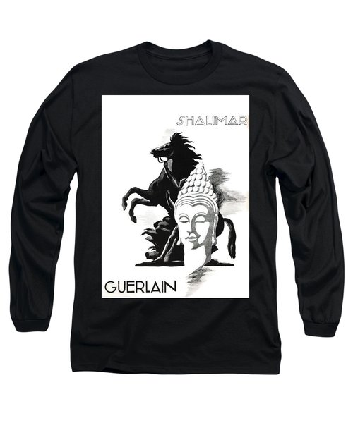 Long Sleeve T-Shirt featuring the digital art Shalimar by ReInVintaged