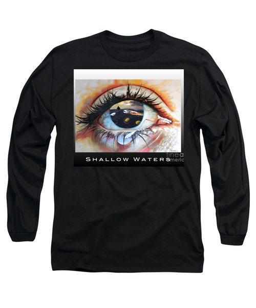 Shallow Waters  Long Sleeve T-Shirt by Linda Weinstock