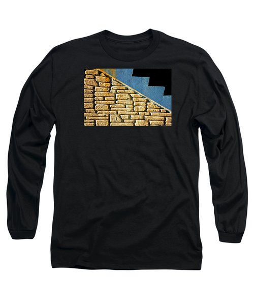 Shapes And Forms Of Station Stairway Long Sleeve T-Shirt by Gary Slawsky