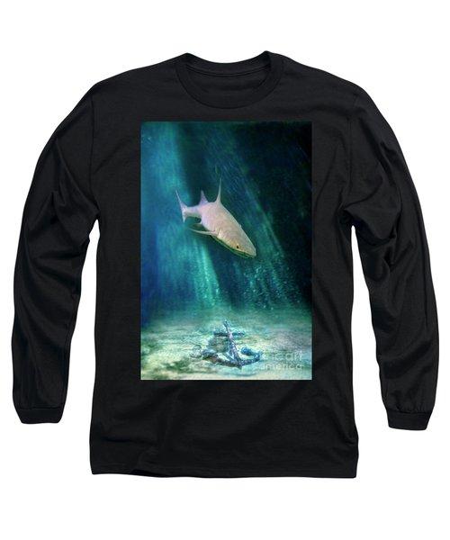 Long Sleeve T-Shirt featuring the photograph Shark And Anchor by Jill Battaglia