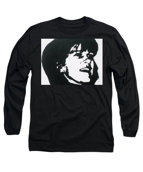 Long Sleeve T-Shirt featuring the drawing Sharon Stemple by Robert Margetts