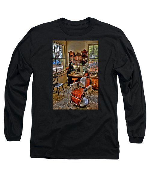 Shave And A Haircut 2 Bits Long Sleeve T-Shirt by Michael White