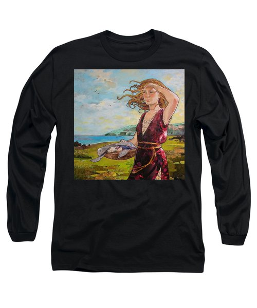 She Baked The Loaves And Dried The Fishes Long Sleeve T-Shirt by Robin Birrell