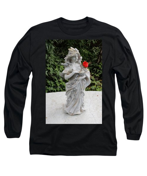 Long Sleeve T-Shirt featuring the photograph She Includes The Rose by Marie Neder