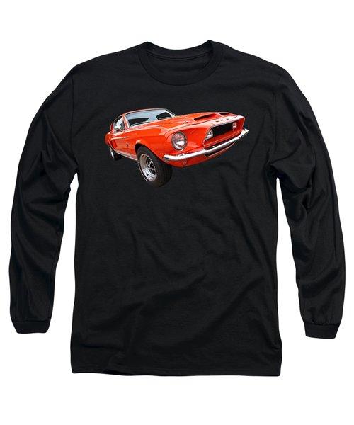 Shelby Gt500kr 1968 Long Sleeve T-Shirt by Gill Billington