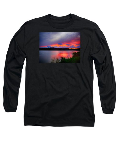 Shelf Cloud At Sunset Long Sleeve T-Shirt