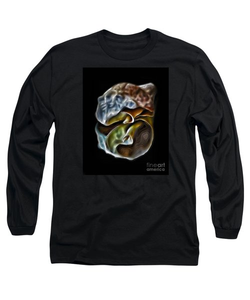 Shell On Mirror Long Sleeve T-Shirt by Walt Foegelle