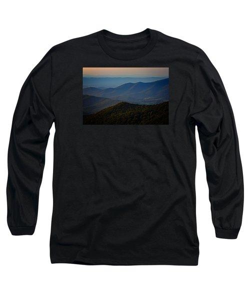 Shenandoah Valley At Sunset Long Sleeve T-Shirt by Rick Berk