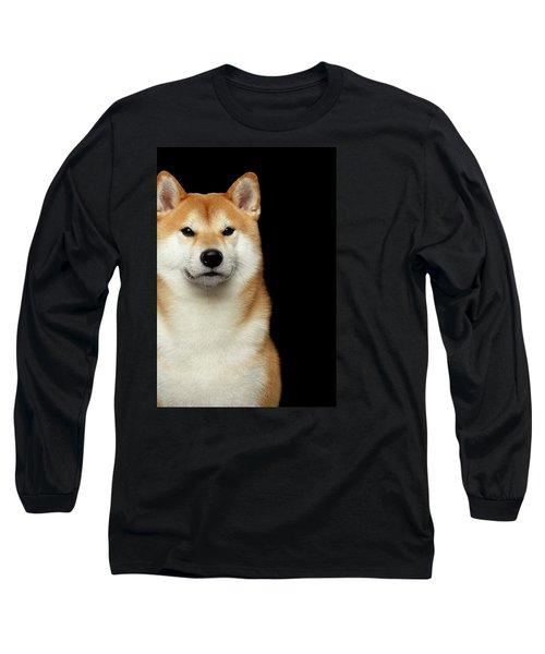 Shiba Inu Long Sleeve T-Shirt by Sergey Taran