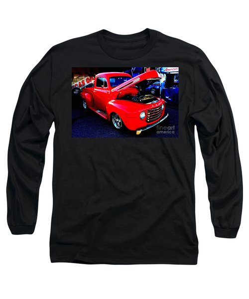 Shiny Red Ford Truck Long Sleeve T-Shirt