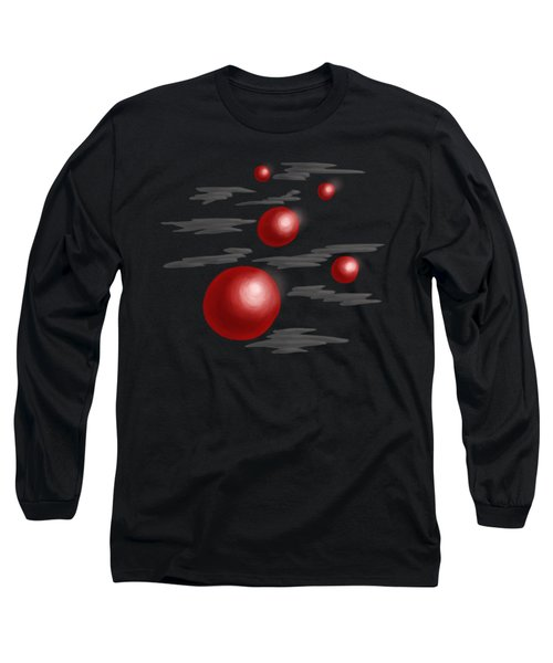 Shiny Red Planets Long Sleeve T-Shirt