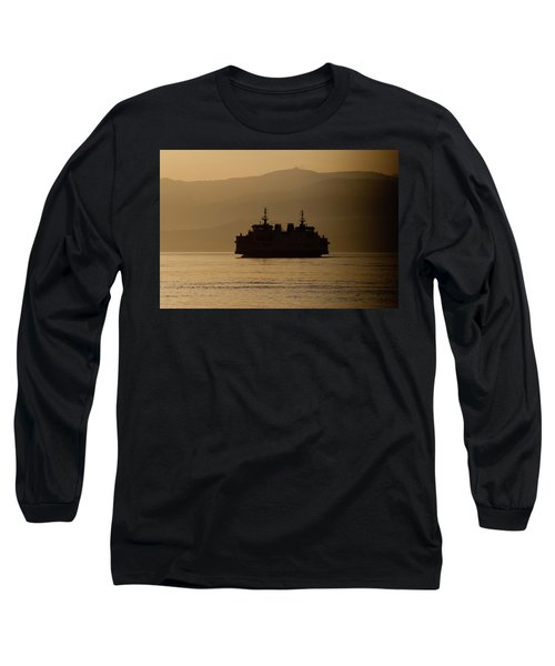 Long Sleeve T-Shirt featuring the digital art Ship by Bruno Spagnolo