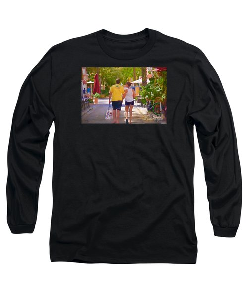 Long Sleeve T-Shirt featuring the photograph Shopping Miami Style by Judy Kay