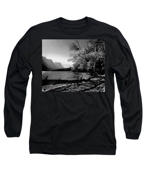 Shoreline Black And White Long Sleeve T-Shirt