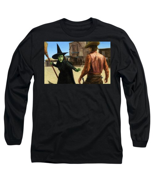 Long Sleeve T-Shirt featuring the painting Showdown by James W Johnson