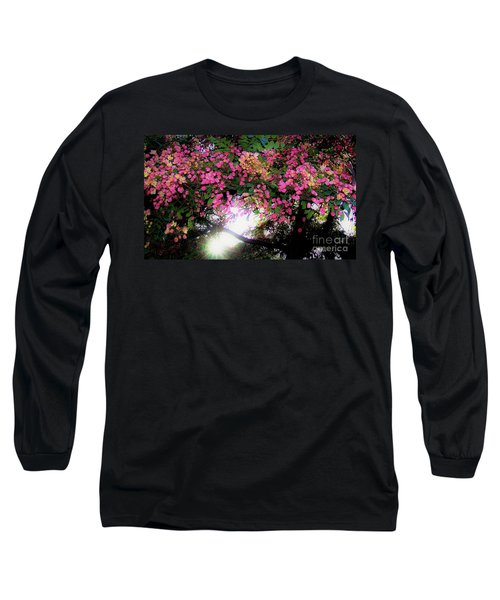 Shower Tree Flowers And Hawaii Sunset Long Sleeve T-Shirt