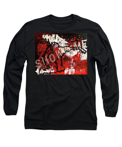 Showtime At The Madhouse Long Sleeve T-Shirt by Melissa Goodrich