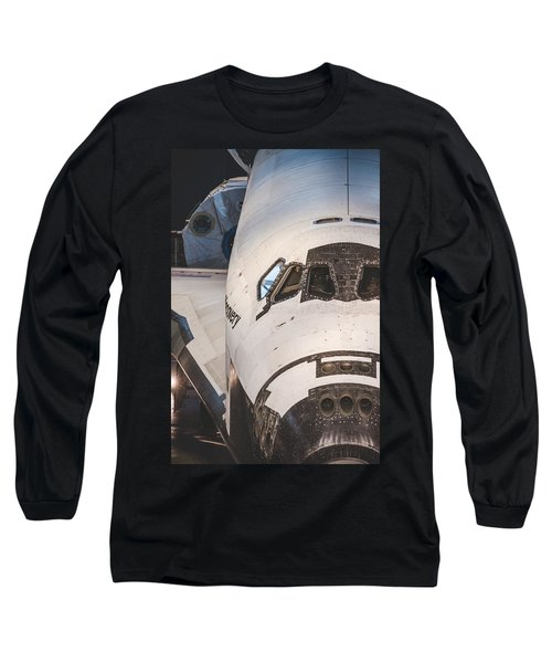 Shuttle Close Up Long Sleeve T-Shirt by David Collins