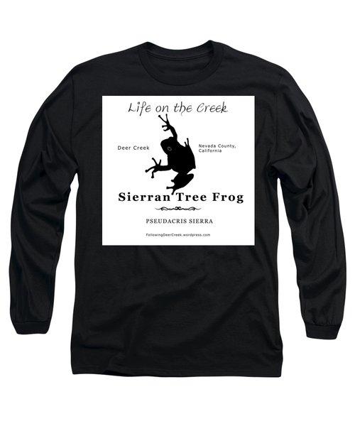 Sierran Tree Frog - Black Graphics Long Sleeve T-Shirt