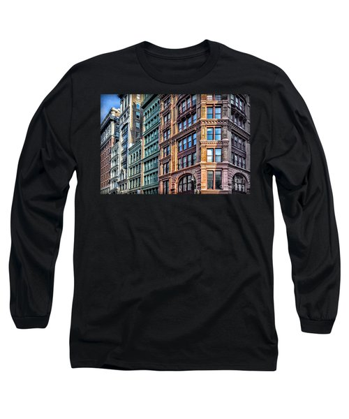 Long Sleeve T-Shirt featuring the photograph Sights In New York City - Colorful Buildings by Walt Foegelle