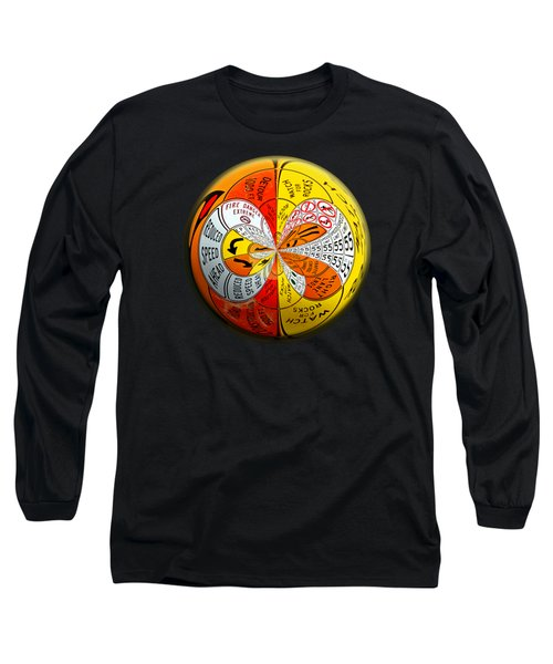 Long Sleeve T-Shirt featuring the photograph Signs Orbit by Phyllis Denton