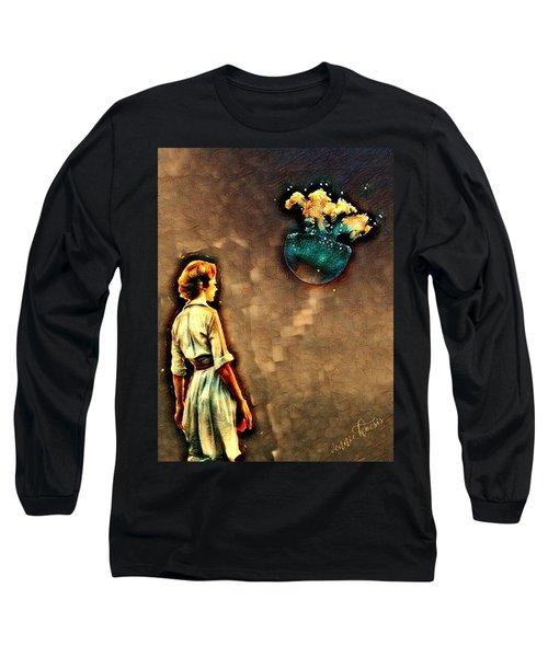 Silence Must Be Heard Long Sleeve T-Shirt by Vennie Kocsis