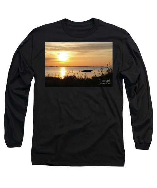 Long Sleeve T-Shirt featuring the photograph Silhouette By Sunset by Kennerth and Birgitta Kullman