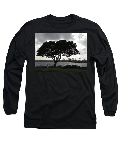 Silhouette Of Tree Long Sleeve T-Shirt