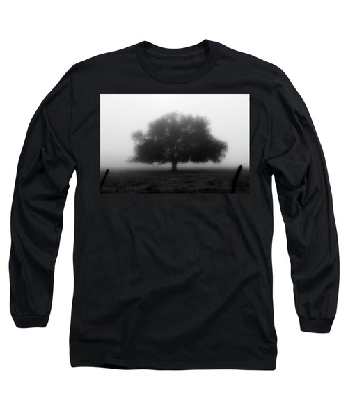 Silhouette Of Tree In Field Long Sleeve T-Shirt