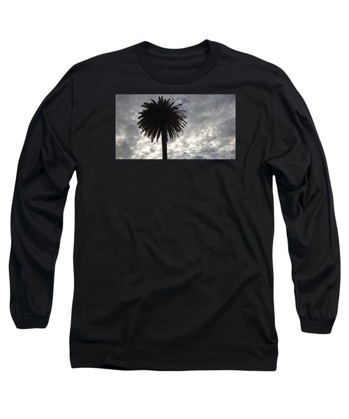 Long Sleeve T-Shirt featuring the photograph Silhouette Solo Palm  by Nora Boghossian